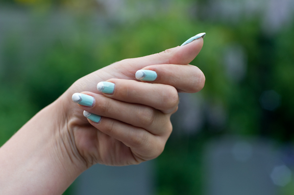 Nailart mint triangles