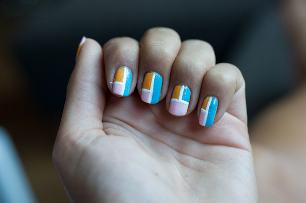 Colorblock nagels