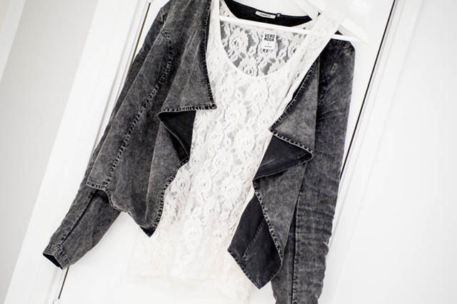 Sans Online Only Blazer Denim Kanten top