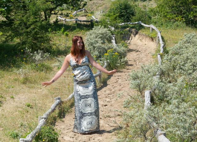 Ik wil zomer outfit jurk met mooie print