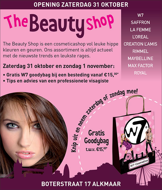 the beauty shop alkmaar opening