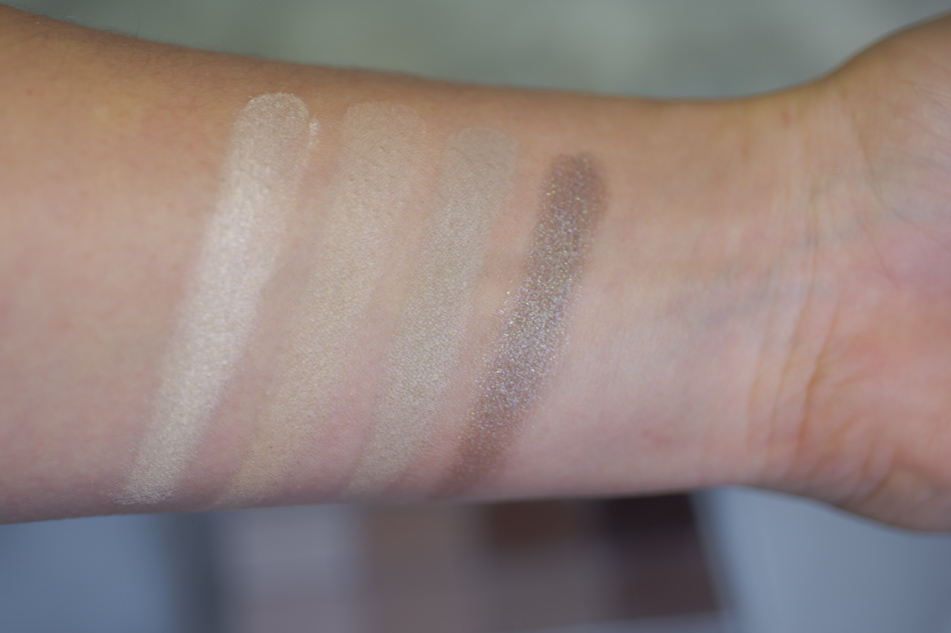 All About Nudes Palette van Essence swatches