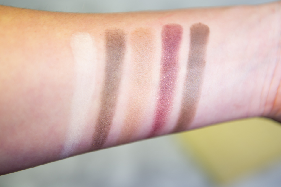 I Heart Makeup - Chocolate palette swatches