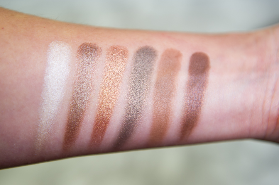 Naked Chocolate palette i heart makeup swatches