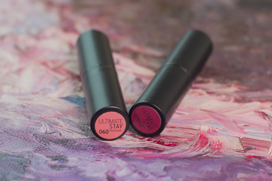 Catrice Ultimate Stay Lipstick 060 Floral Coral 070 Plum & Base
